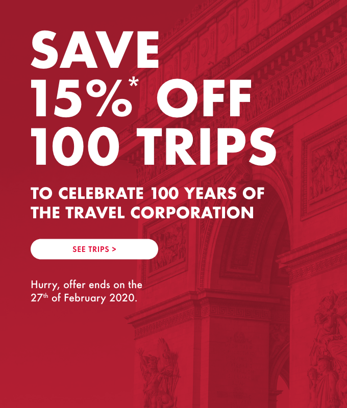 Save 15% off Worldwide trips